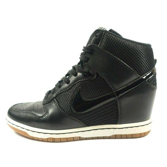 Nike Dunk Sky Hi Hidden Wedge Leather Sneakers